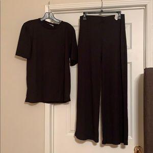 Zara Ribbed Shirt and Pants set
